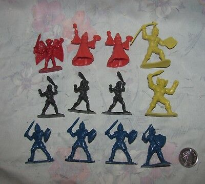 "Vtg 1983 Toyco Dungeons Dragons Fantasy Figures 2"" Riders of the Styx Lot of 12"