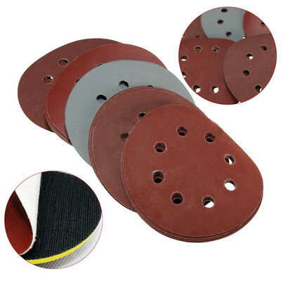 "25x 5"" 800 1000 1500 2000 3000 Grit Sanding Disc Hook Loop Sander Paper Assorted"