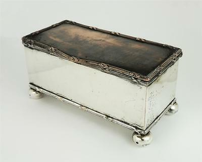 Smart EDWARDIAN SILVER PLATE INK STAND c1910 Georgian Style