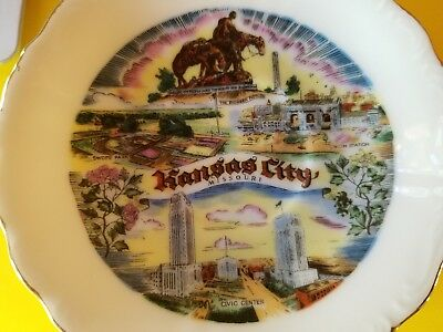 Vintage Souvenir MINI Plate Kansas City Missouri Swope Park Civic Center