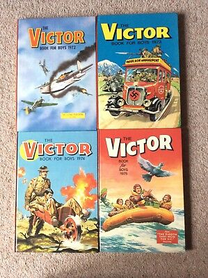 Victor annuals for sale, 4 editions, 1972 through to 1975