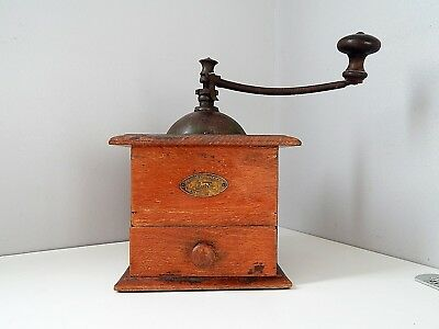 Antique/Vintage French coffee mill coffee grinder Peugeot Frères Valentigney