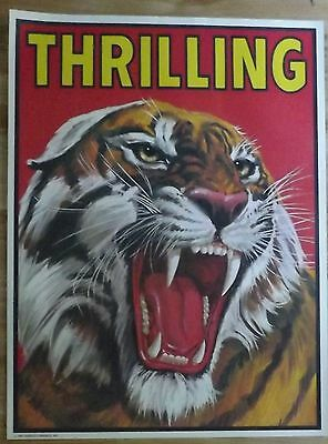 Nabisco Circus Posters, set of 4 (Clowns,Elephant,Tiger)