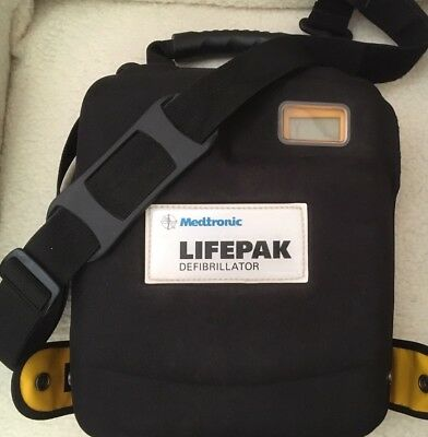 LifePak 1000 AED with hard cover.