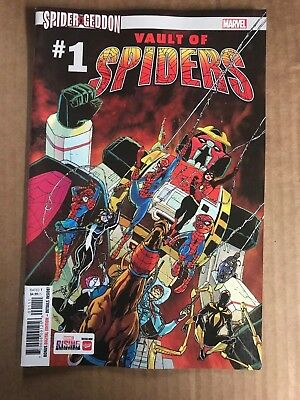 Spider-Geddon Vault Of Spiders #1 First Print Marvel Comics (2018) Spider-Man