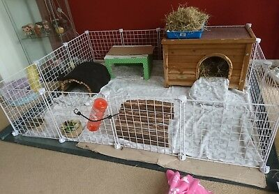Cc Grids And Connectors To Create A Large Indoor Guinea Pig Cage