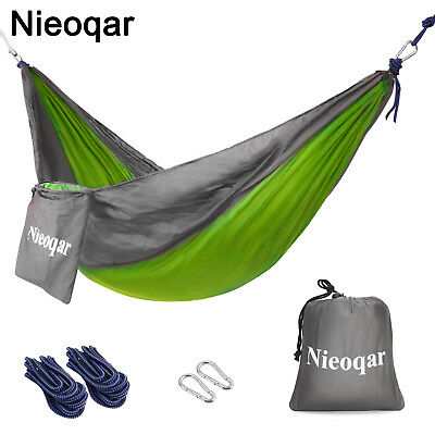 Portable Camping Parachute Hammock Hanging Bed Outdoor Sleeping Swing Hangingbed