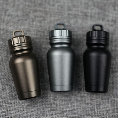 Outdoor Waterproof Aluminum Medicine Pill Tank Box Case Bottle Holder Container