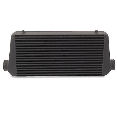 "3"" 76mm XL BLACK ALUMINIUM ALLOY CUSTOM TURBO DIY FRONT MOUNT INTERCOOLER FMIC"