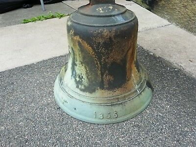Antique Bronze School Bell dated 1855 J Warner and sons of London