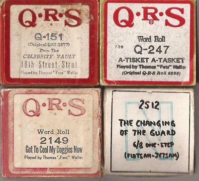 Pianola Rolls x4 Mostly Fats Waller QRS Got to Cool My Doggies + more