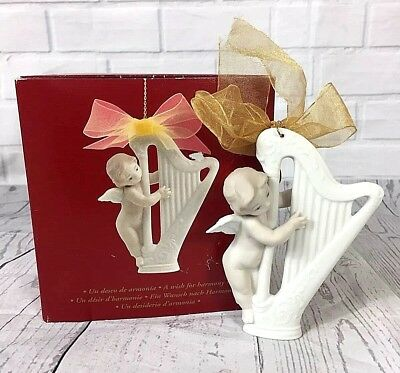 Lladro Christmas Ornament A Wish for Harmony 01016732 Handmade in Spain with Box