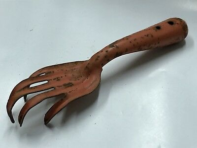 Vintage Garden Tool Hand Claw Old Chippy Paint