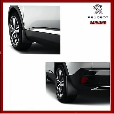 Genuine Peugeot 3008 SUV GT 2017 Onwards Front & Rear Mud Flaps / Guards