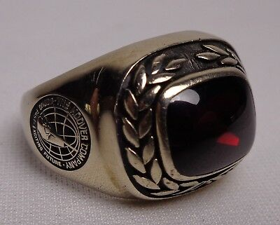 Vintage The Hoover Sweeper Co. Mens Award Ring Advertising Memorabilia Rare