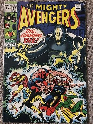 Marvel: Avengers #67, 1St Ultron Cover, Early Appearance, 1969
