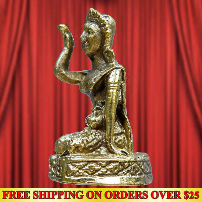 Goddess Nang Kwak Call Money Good Trade Amulet Statue Wealth Talisman Magic Luck