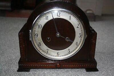 Vintage Art Deco 1940s Striking Mantel Clock - Restored and Overhauled