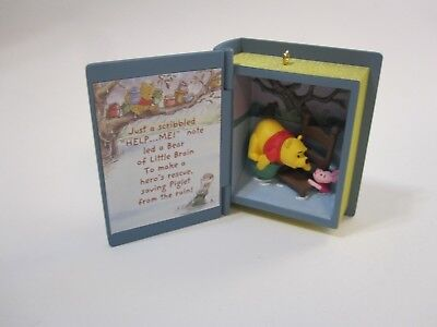 2005 Hallmark Keepsake Ornament Winnie the Pooh Rainy Day Rescue book ornament