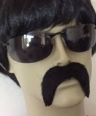 Black Droop Fancy Dress Self Adhesive Mexican Style  Moustache