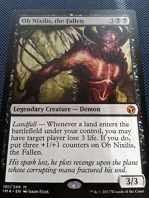 Ob Nixilis The Fallen Rare Card MTG Iconic Masters Mint Magic The Gathering