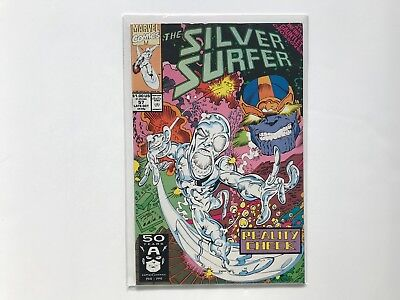 The Silver Surfer #57 (1991) Infinity Gauntlet Crossover Thanos cover Marvel hot