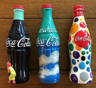 3 McDonald's Worldwide Convention Limited Coca-Cola Bottles - 2000, 2002, 2006