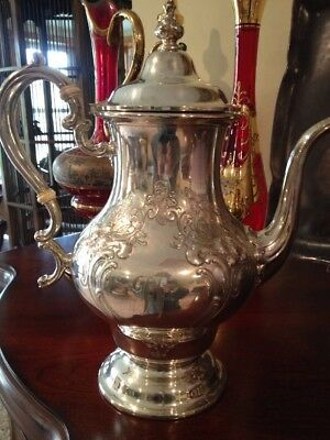 Gorham Sterling Silver Victorian Chased Coffee Pot - 464.6 Grams