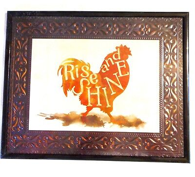 Special Moments Rise and Shine Rooster 8 X 10 Picture Frame Texture Black Bronze