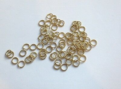 Gold plated Twist 6mm Jump Ring Pack of 500