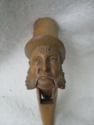 Good quality antique 19th C. treen carved wood figural nutcracker
