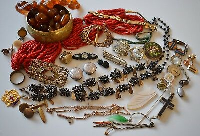 Antique Vintage Jewellery inc. Victorian Deco Edwardian SPARE REPAIR job lot