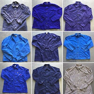 Vintage Wholesale Lot French Worker Shirt Jacket x 25