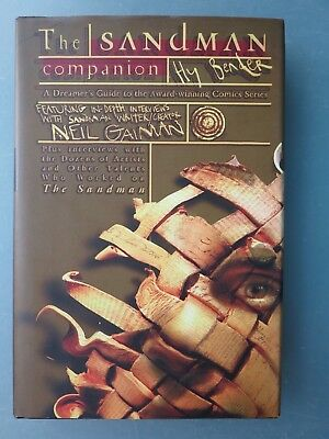 THE SANDMAN COMPANION HARDCOVER by HY BENDER 1999 NEIL GAIMAN INTERVIEWS & MORE