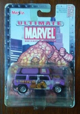 Ultimate Marvel #17 The Thing Hummer H2 SUV 1:64 Scale Diecast Car (Maisto)