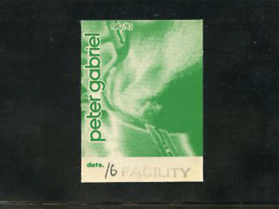 Peter Gabriel  - 1982/83 Facility BS pass Tower Theater Upper Darby, PA