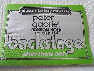 Peter Gabriel - 1980 backstage pass after show Tower Theater Upper Darby, PA