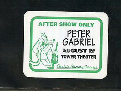 Peter Gabriel  - 1994 backstage pass after show Tower Theater Upper Darby, PA