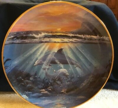 Franklin Mint Limited Edition Dance of the Dolphin by Delmary Collector Plate