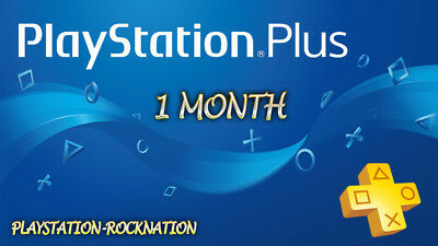 1 Month PlayStation PsPlus PS4-PS3 -Vita (NO CODE )