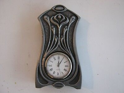 Art Deco Style Pewter Desk Clock,by Design Clinic.