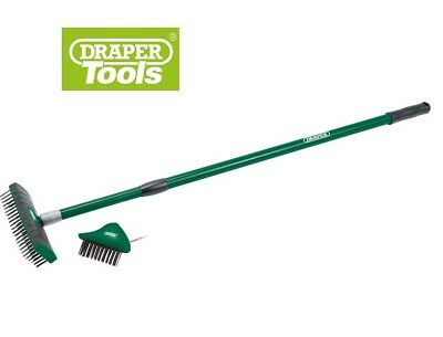 DRAPER Paving Brush Set Interchangeable Heads & Telescopic Handle Cleans Moss