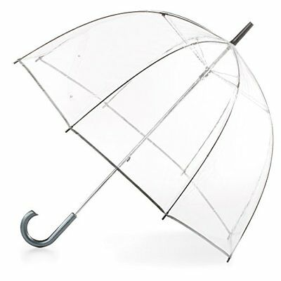 Totes Clear Bubble Rain Umbrella Dome Transparent Fashion 52 inches