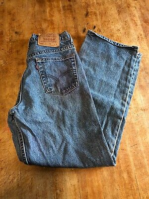 Vintage Levis 565 Youth Relaxed Fit Wide Leg USA Denim Jeans 28 x 29