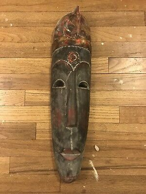 Large Wooden Carved Indonisian Mask