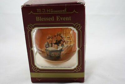 Vintage Hummel Glass Ornament Goebel Blessed Event Made in U.S.A. Christmas Tree