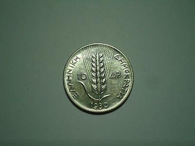GREECE,10 Drachmai 1930 Goddess Demeter <XF-AU>