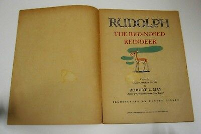 Rudolph the Red-Nosed Reindeer 1939 vintage 1st ed, 1st appear promotional comic