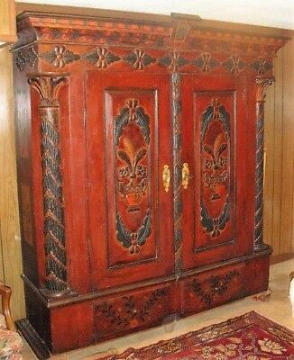 Antique Wedding European  Armoire 1830  can be used also as a Library