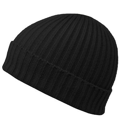 Knitted Woolly Winter Warm Mens Cable Knit Ladies Fleece Beanie Bobble Ski Hat